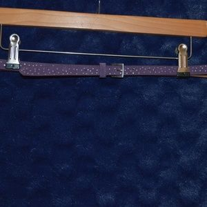 Old Navy Suede Skinny Belt w/ Silver Faceted Studs